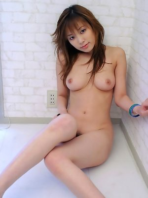 Yua Aida cute Asian babe in a red seethru top and panties